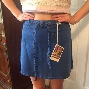 Cello Jeans Dresses & Skirts - 🎄NWT Cello Jeans Blue Miniskirt. Size Large