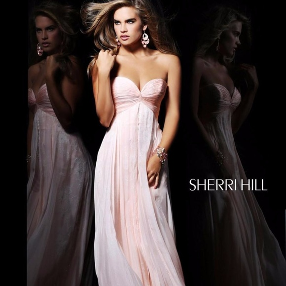 ccec6700f6 Ethereal Lace Empire Evening Dress by Sherri Hill