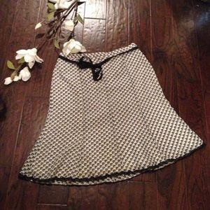 Pierre Cardin Dresses & Skirts - Black & white patterned skirt