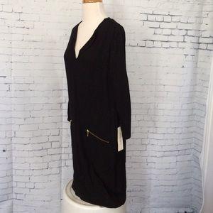 Gerard Darel Dresses & Skirts - Gerard Darel Black Dress Zip Pockets Size 4