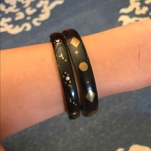 Anthropologie Jewelry - Set of Two Brown Bangles
