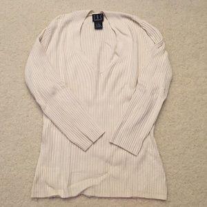 INC v neck softest ribbed sweater