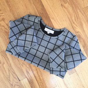 [LOFT] Petite Windowpane Sweatshirt