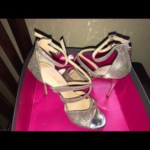 Silver Ivanka Trump heel