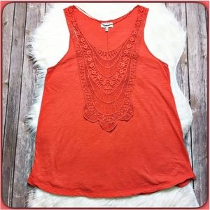 Zara Tops - Zara Tank with Open Embroidered Front