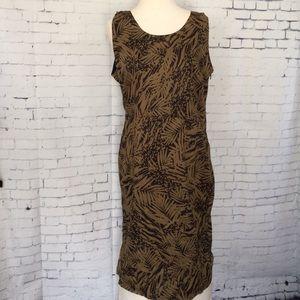 Gerard Darel Dresses & Skirts - Gerard Darel Leaf Print Dress Zip Slit Peekaboo 12