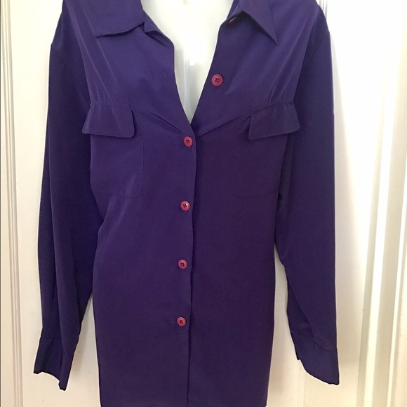 5f58a8ac4 Purple Button Down Blouse. M_583b279b36d59492dd0ca6a6