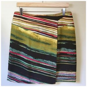 Etcetera Dresses & Skirts - Etcetera Faux Wrap Striped Pencil Skirt Size 10