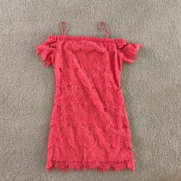9aff0cfbfd00 Topshop NWT Coral Lace Dress