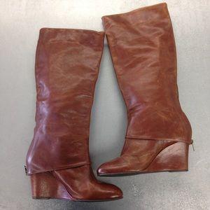 Steven Maryn Camel Wedge Boots Size 10