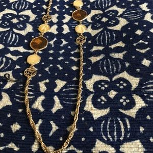 Vintage gold and glass necklace