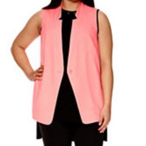 Neon sleeveless blazer