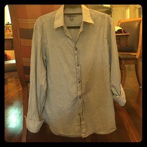 H&M Light Grey Boyfriend Button Up