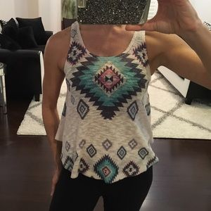 Tribal Print Knit Tank Top