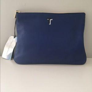 Rebecca Minkoff Handbags - Rebecca Minkoff monogrammed T Jodie pouch blue new