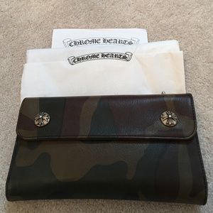29c33d6cfa82 Chrome Hearts long leather wallet in camoflouge