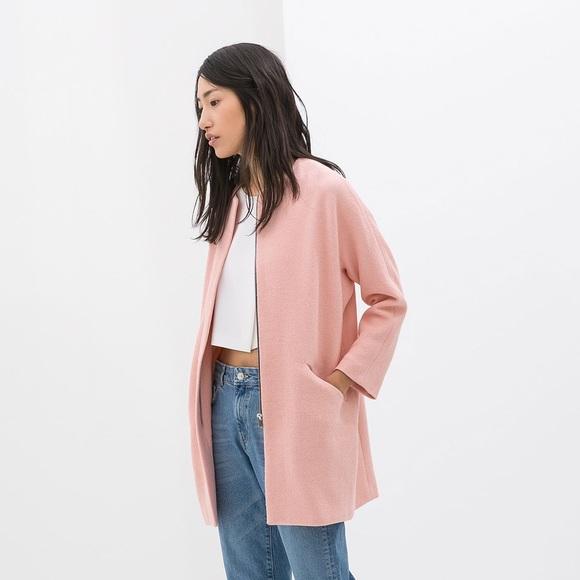 35% off Zara Jackets & Blazers - Zara Pink Car Coat from Kelsea's ...