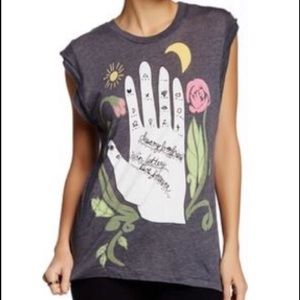  Wildfox Dylan Palm Reader tank size M