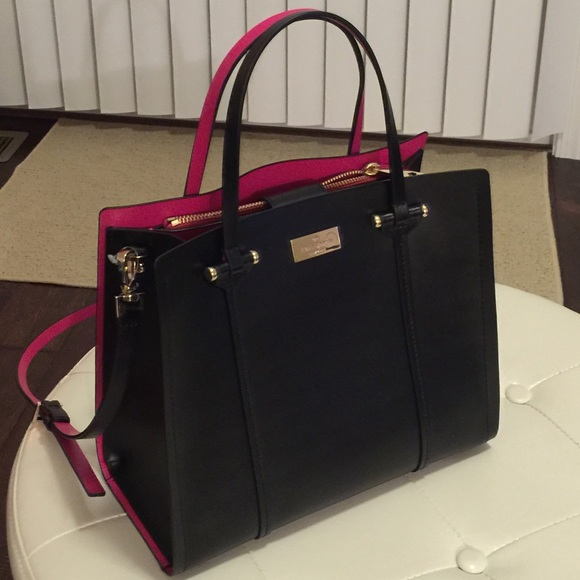 kate spade Bags | Nwt Small Black Pink Purse Shoulder Bag ...