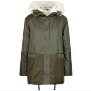 Topshop PETITE Jackets & Blazers - Topshop Short Petite Military Parka with Faux Hood