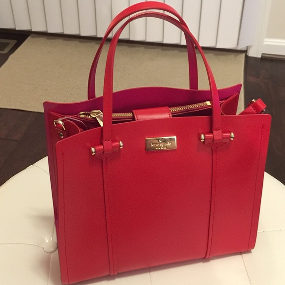 kate spade - NEw Kate spade small red & pink purse shoulder bag ...