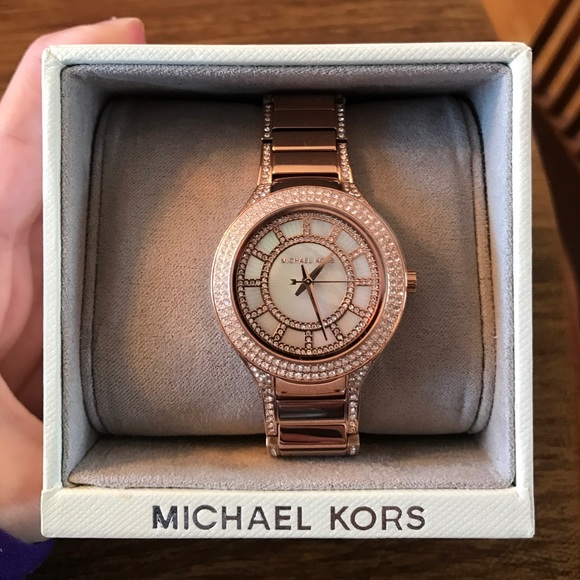 aa1e733bcd78 Michael Kors Mini Kerry Rose Gold Watch