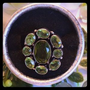 BOUTIQUE Jewelry - BOHO GREEN QUARTZ 925 SILVER PLATED RING
