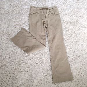 THE LIMITED Exact Stretch tan khaki Flare Pants
