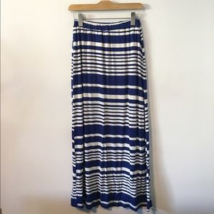 Olive & Oak Maxi Striped Skirt with Slip