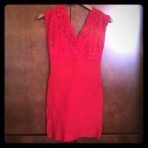 bebe Dresses & Skirts - BEBE Lace Bodycon Dress