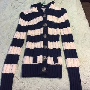 Button up hooded sweater