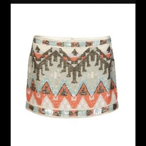 All Saints Spitalfields Aztec Sequin Skirt