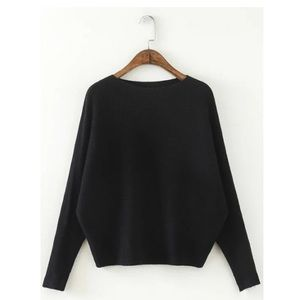Sweaters - Cropped Dolman Sleeve Soft Sweater
