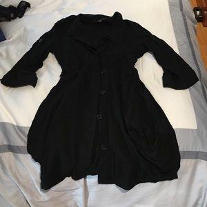 3/4 Sleeve Button Down Mini dress