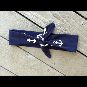 Other - Girls Blue and White Anchor Headband