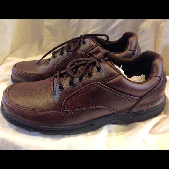 591f5d14046 Men s Rockport Eureka Brown Walking Shoes