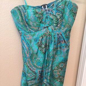 J Crew strapless silk dress