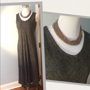 Eileen Fisher Sleeveless Maxi Rayon-Linen Dress