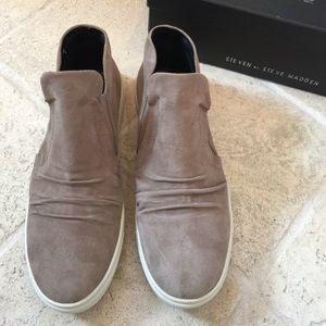 e480d28ea47 Steven by Steve Madden Shoes - Steven by Steve Madden Exitt Taupe Suede  Sneakers