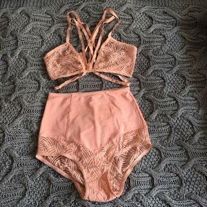 Authentic For Love and Lemons bra and panty set