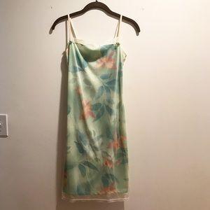 Dainty floral mesh tank dress