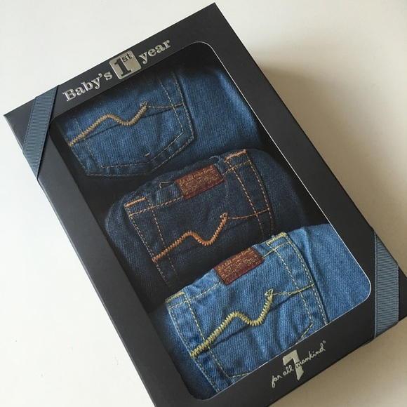 Tecnología Sin personal reflujo  7 For All Mankind Bottoms | 7 For All Mankind Babys St Year Jeans Box Set |  Poshmark