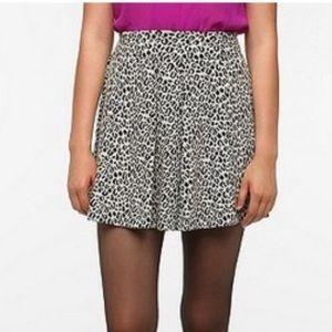 Black & White Leopard Skater Skirt
