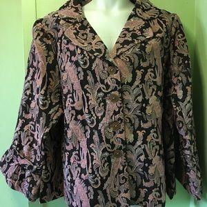 Ladies plus size button front jacket avenue26/28