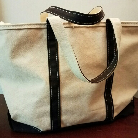 77% off L.L. Bean Handbags - Large LL Bean Canvas Tote Bag N ...