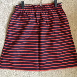 NWT J. Crew striped skirt size 4