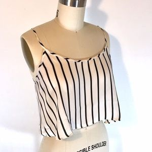 F21 Striped Crop Top