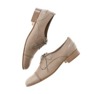 Madewell Flat Leather Lace-Up Oxford Brown Size 6