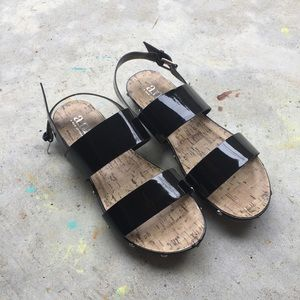 a.n.a Shoes - a.n.a Black Sandals