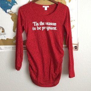Christmas Maternity Shirt